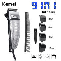 Kemei KM-4639 Electric Hair Clipper 2H Quick Charge Men Trimmer Shaver Barber Grooming Cut Kit