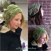 Cabled Button Slouch by #sillystitches, #crochetpattern