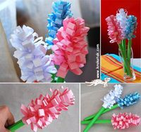 Hyacinth paper flowers - Mother's Day