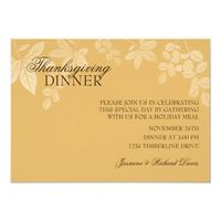 Classic Thanksgiving Dinner Invitation