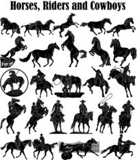 Horses, Riders and Cowboys Just for: $34.90