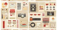 a set of illustrations created for 50feasts, a food photography school based in manila, philippines by kasey albano