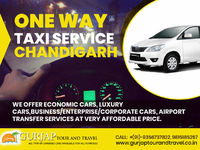 Check out our one way taxi service in Chandigarh, we will assure you that you will enjoy your journey with our experienced and co-operative drivers. For more details contact today: 9356737822, 9815185257, 9592585257 or visit our website for any informatio...