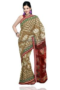 Lovely green and grey tie & dye rajkot sico patola weaving saree