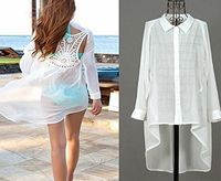 EFE Sexy Womens Beach Wear Chiffon Lace Crochet Back Bikini Cover Up Long Shirt Dress Set Include: 1pc Cover Up Condition: New without tag Material: Chiffon, Lace Color:White(As pictures shown) (Barcode EAN = 0711707781641). http://www.com...