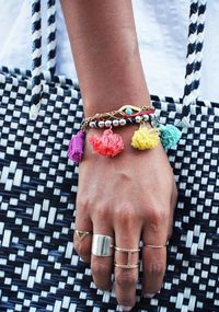 These colorful little tassels make me happy!