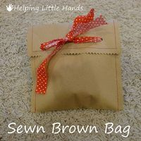 Sewn Brown Bag