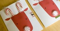 Super-cute DIY with free printable. Reindeer Candygram from One Crafty Place