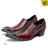 Patented Leather Shoes | CWMALLS® Men Pointed Toe Dress Shoes CW708000[Father's Day Gifts, Patented Design]