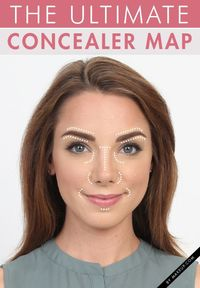Whether you're looking to cover dark undereye circles, contour your cheekbones, or cover imperfections, we've got a foolproof concealer map that will help give you a perfect complexion!