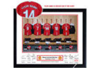 personalised Manchester United Kit Picture (Framed) For thousands of Manchester United fans the ultimate dream is to have their name on the back of their own Red Devils kit, and while you can get your name printed on the back of a shirt it really ...