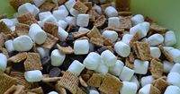 Super Easy Smores! INGREDIENTS: Golden Grahams cereal mini marshmallows chocolate chips DIRECTIONS: 1. Mix the ingredients together. The ratio is up to you. I usually do about 1 part cereal, 1 part marshmallows and 1/2 part chocolate chips. Then...
