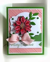 Stamps:  Joyful Christmas, Holiday Collection Paper:  Blushing Bride, Gumball Green, Whisper White, In Color DSP Ink: Basic Black, markers, ...