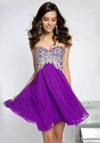 Short Sparkly Purple Cheap Homecoming Dresses 2014