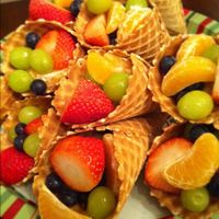 fruit salad in a waffle cone!