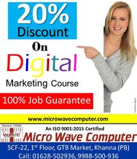 Grab this opportunity at Micro Wave Computer in Khanna city (Punjab). This offer is for limited time period. So hurry up!!! Get enrolled. Visit us:- SCF 22, Ist Floor, GTB Market, Khanna(Punjab) website- https://microwavecomputer.com Conta...
