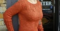 Modification Mondays: Cadence | knittedbliss.com A gorgeous FREE sweater pattern originally, modified to be tunic length and have side vents, as well as full length sleeves.