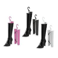 The days of misshapen boots bundled up at the bottom of your closet are over. Simply squeeze these boot shapers together to insert them in your favorite pair of tall shafted boots.