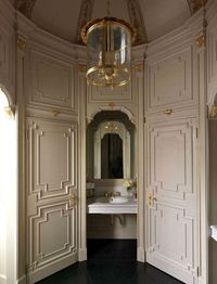 greige: interior design ideas and inspiration for the transitional home : greige and gold in the bath...