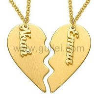Personalized Split Heart Name Necklace Gold Plating https://www.gullei.com/personalized-split-heart-name-necklace-gold-plating.html