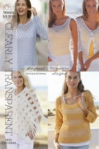 Open mesh is trendy, both in knitting and crochet - look forward to spring with these free patterns - DiaryofaCreativeFanatic