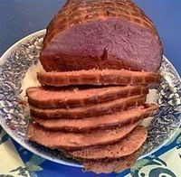 Honey baked ham is tasty and versatile. A traditional holiday favorite, we also enjoy it sliced thin for sandwiches or cubed and baked into casseroles or egg di