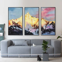 Snow mountains Peaks oil painting on canvas Original 3 pieces extra Large Wall pictures set of 3 wall art home decor cuadros abstractos $175.29