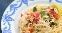 Lobster and Mascarpone Lemon Sauce over Angel Hair Pasta. Gather around for this Quick and Easy Lobster and Pasta Recipe. Enjoy.