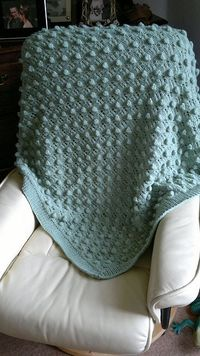Ravelry: Bobbles & Lace Baby Blanket pattern by Melissa Leapman