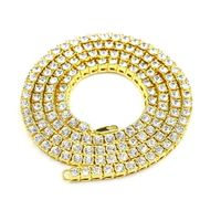 Gold Plated 1 Row Tennis Cubic Zirconia Iced Out CZ Chain Hip Hop Bling Necklace £203.88