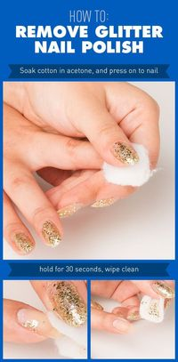 We set out to find an easy way to remove glitter nail polish and found a couple that really work.