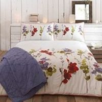 Red & Green 'Meadow' bed linen