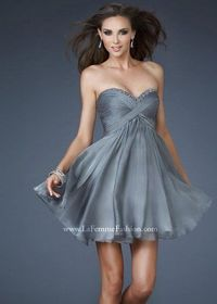 Sequin Neck Grey Short Pleated Cutout Back Homecoming Dress
