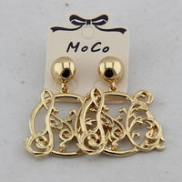 MOSCHINO FEATHERS EARRINGS GOLD