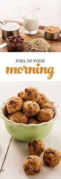 Looking for a no-bake, easy breakfast recipe? These granola bites are made with healthy ingredients you probably have in your pantry, like oatmeal and peanut butter (plus a little chocolate). They'll fuel you up so you have the energy you ne...