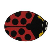 "Fun Rugs Fun Time Shape Red Lady Bug Home Decorative Accent Area Rug 35""X39"" $48.00"