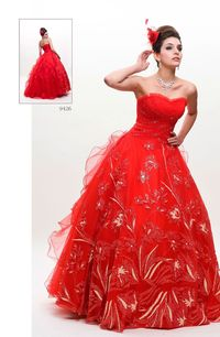 Fancy Ball Gown Sweetheart Floor-length Ball Gown/Quinceanera Dress