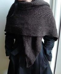 Textured Shawl. Brontesque. AND link includes knitting instructions! So simple!.