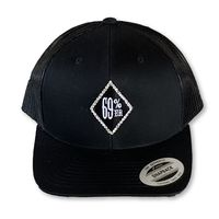 "THIGHBRUSH® - 69% ER DIAMOND COLLECTION - ""Bling"" Trucker Snapback Hat - Diamond Patch on Front - Black"