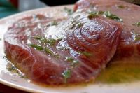 Tuna is a healthy fish that can be purchased in steak form. There are many different recipes you can use to spice up your tuna steak if you like your tuna to ha