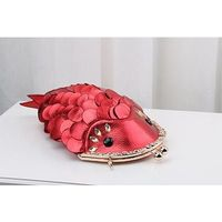 luxury crystal diamond women big fish evening clutch bag $128.73