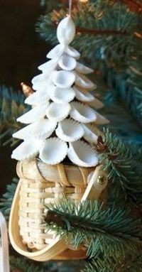 Atlantis Nantucket Shell Tree Basket - so perfectly Cape Cod!