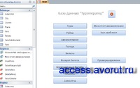 """Download access database Tour operator. The main form of the database """"Tour Operator"""""""