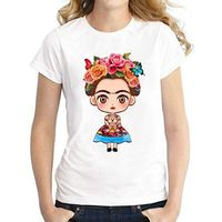 Frido Kahlo as Child on a T-Shirt / Top ( White Background) $22.99