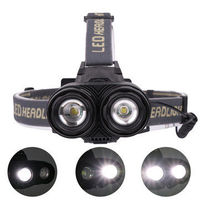 XANES 4105 1200LM 2*XML-T6 Mechanical Zoom 4 Modes Camping Bicycle Headlamp 2*18650mAh Battery USB Rechargeable