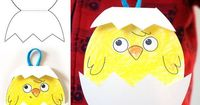 "Baby Chick �€"" Easter craft"