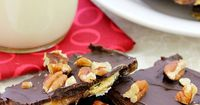 "This Saltine Toffee Candy - aka ""Christmas Crack,"" is in high demand at the holidays! True to its name, it is delicious and addicting! Family and friends will beg you to make this! #TimetoBelieve #CleverGirls #ad"