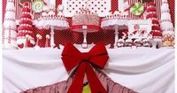 View this party Candy Christmas Party {Christmas Party Theme} This Candy Christmas party table features lots of DIY projects and ideas including styrofoam �€œcandies,�€ Santa hat cake pop holders, candy trees, thrift store cake stands and...