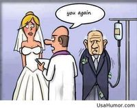 Funny marriage moment with old people