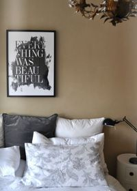LOVE that painting/print. [from 91 Magazine via Decor8]